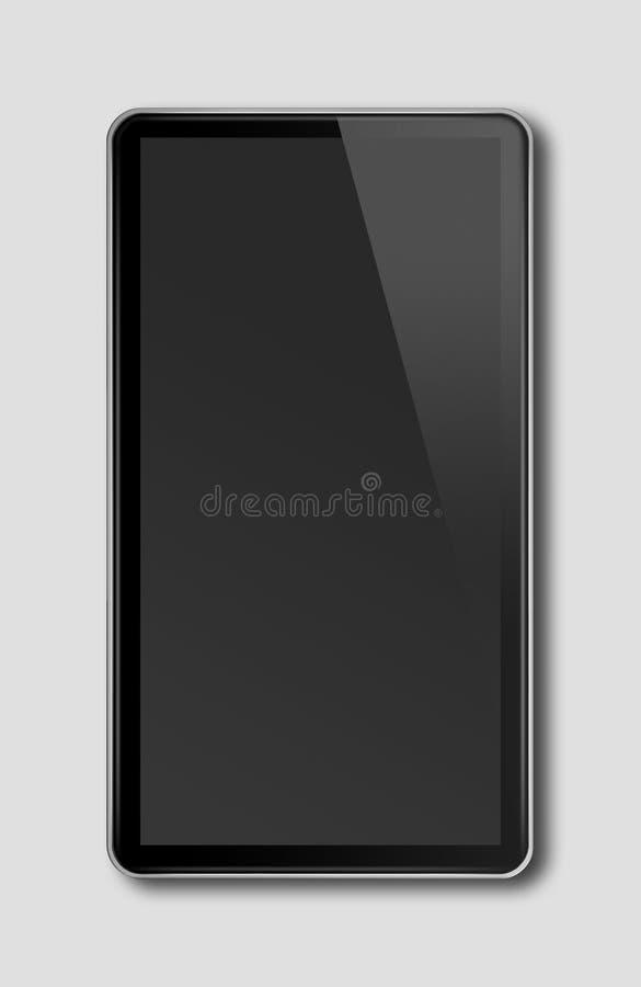 黑智能手机,在黑暗的gr隔绝的数字式片剂个人计算机模板 皇族释放例证