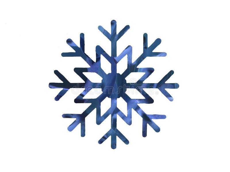 黑暗和浅兰的雪花设计 免版税库存图片