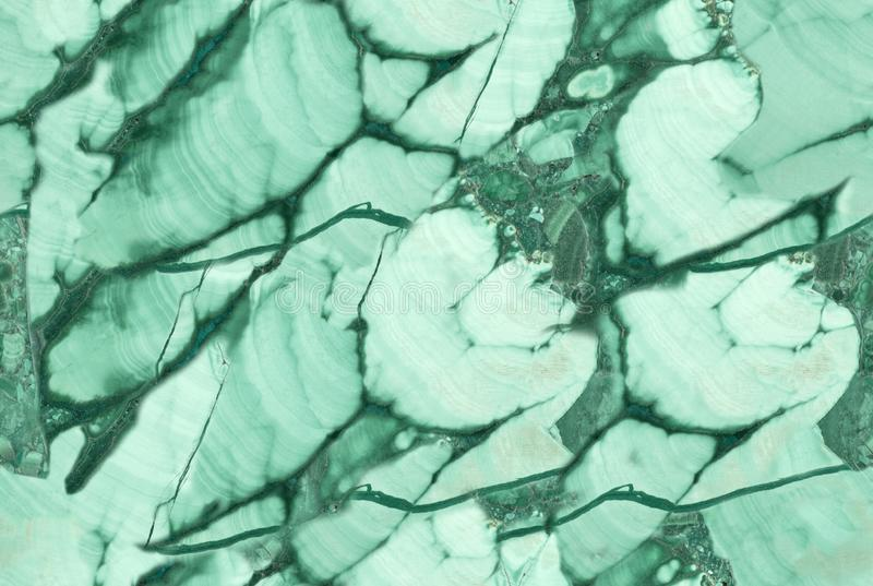 黑暗和浅绿色的seamles绿沸铜宏观照片  免版税库存图片