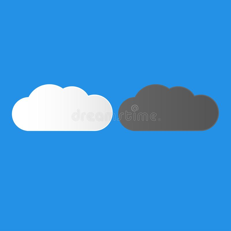 黑暗和白色云彩选择您的燃料 向量例证