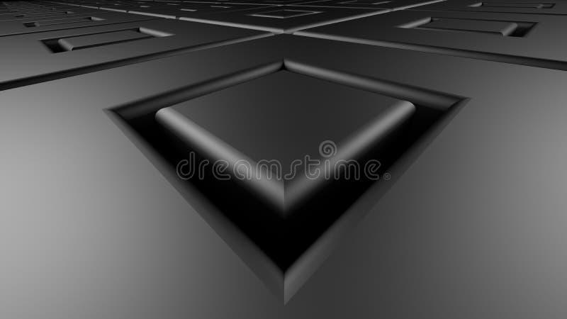 黑暗摆正金属背景3d回报 向量例证