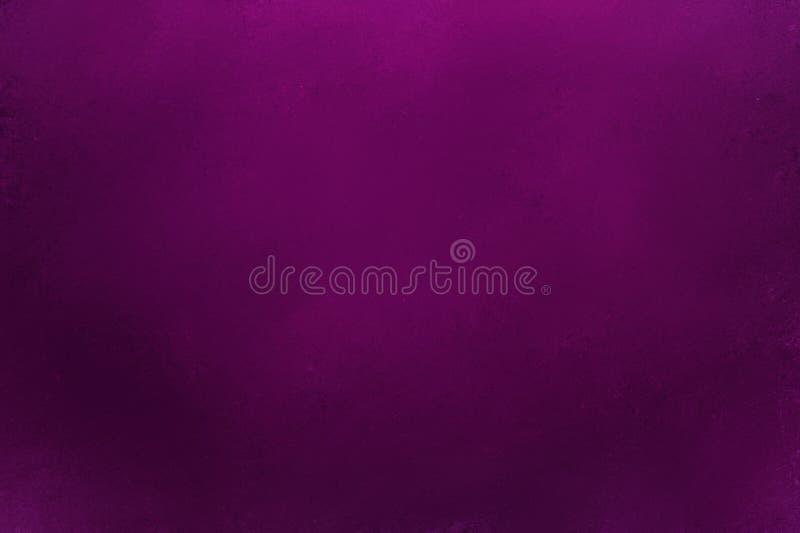 黑暗的与葡萄酒难看的东西纹理的酒紫色背景和在典雅的富有的设计的软的边界照明设备 皇族释放例证