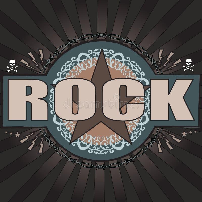 黑暗的主题和时髦的摇滚音乐背景 皇族释放例证