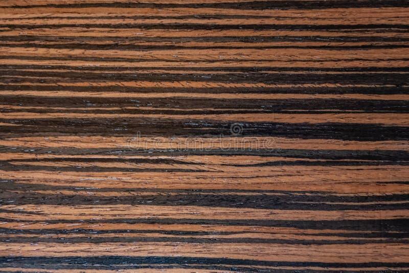 黑暗的乌木表面饰板,在宏指令的自然木背景 极端高分辨率照片 免版税库存照片