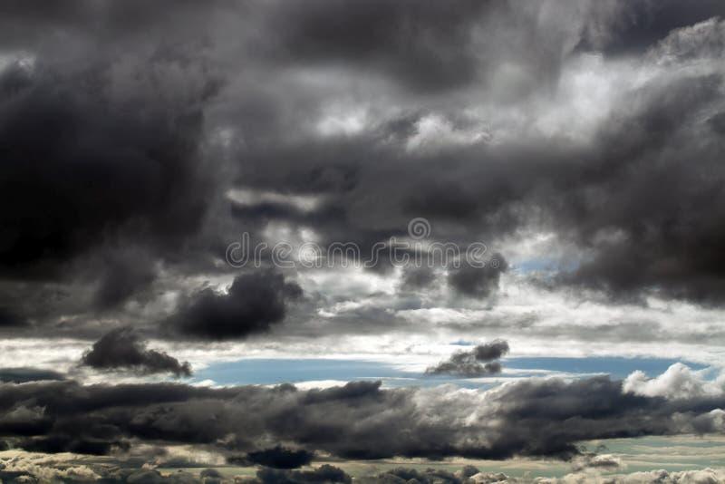 黑暗的云彩,特写镜头 免版税库存照片