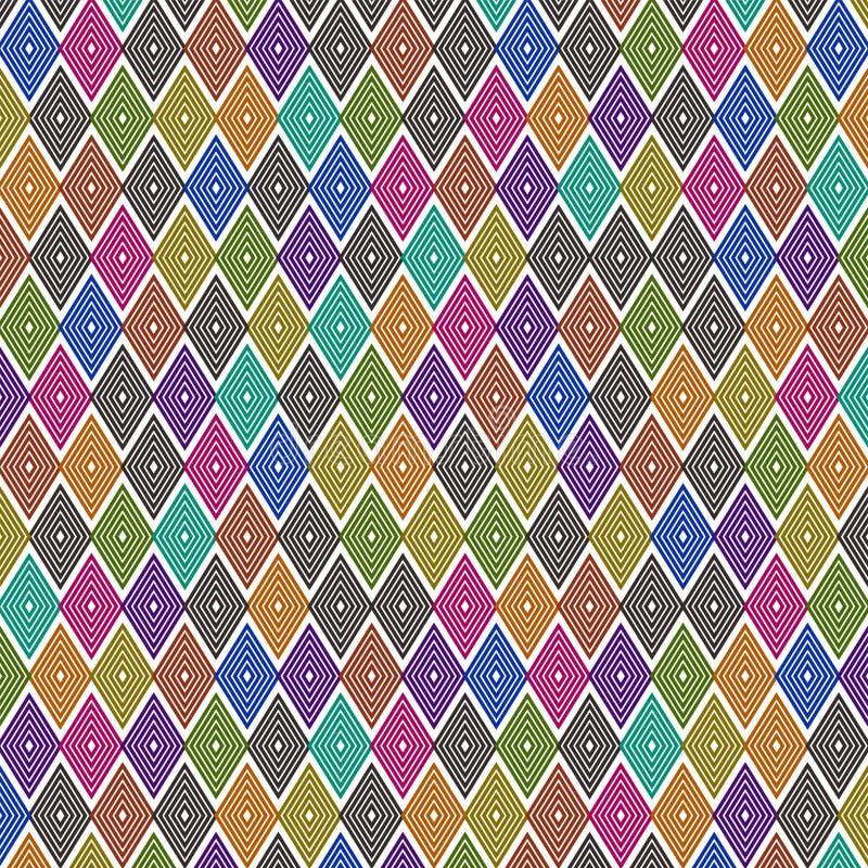 黑暗的五颜六色的平行四边形样式设计 向量例证