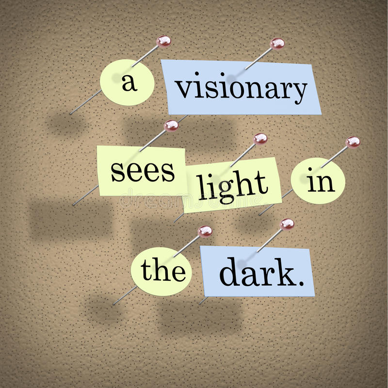 黑暗的光看见有远见者 向量例证