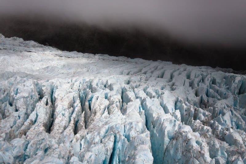 黑暗的冰川横向新西兰 图库摄影