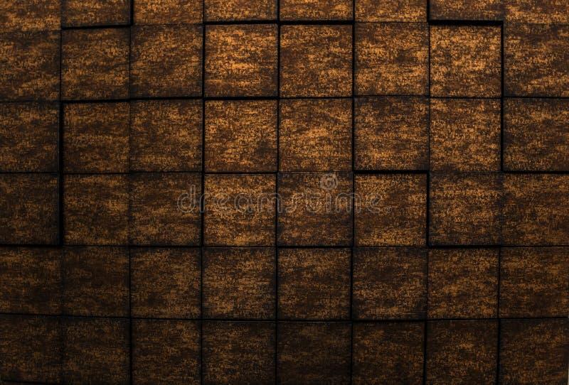 黑暗的古铜色颜色内墙豪华背景惊人的详细的特写镜头视图  库存照片