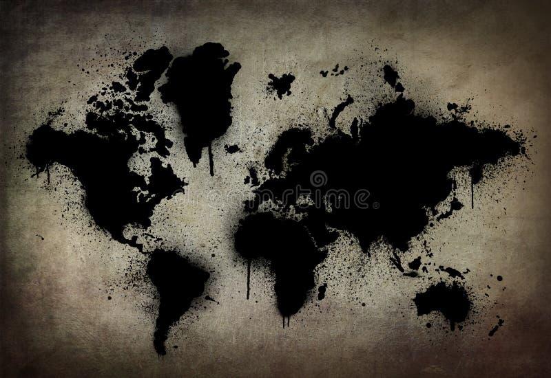 黑暗的地球 库存照片