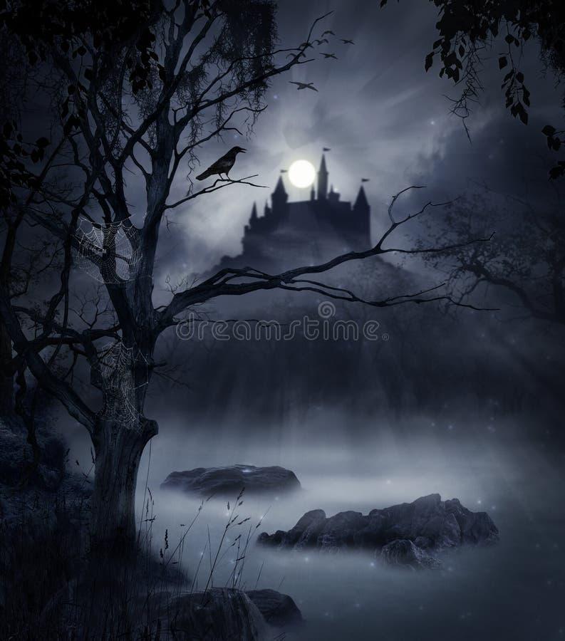 黑暗的场面 图库摄影