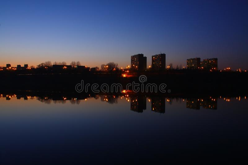 黑暗的城镇 免版税图库摄影