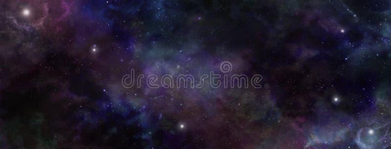 黑暗的夜空外层空间背景 向量例证