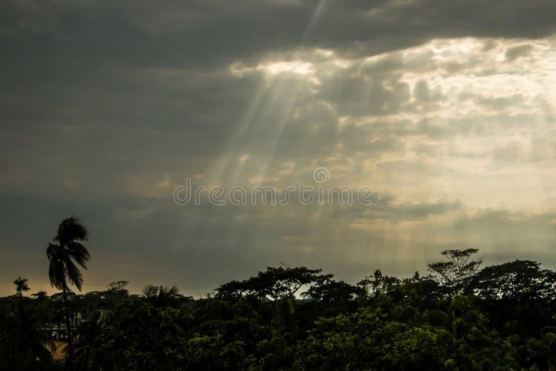 黑暗的天空 图库摄影