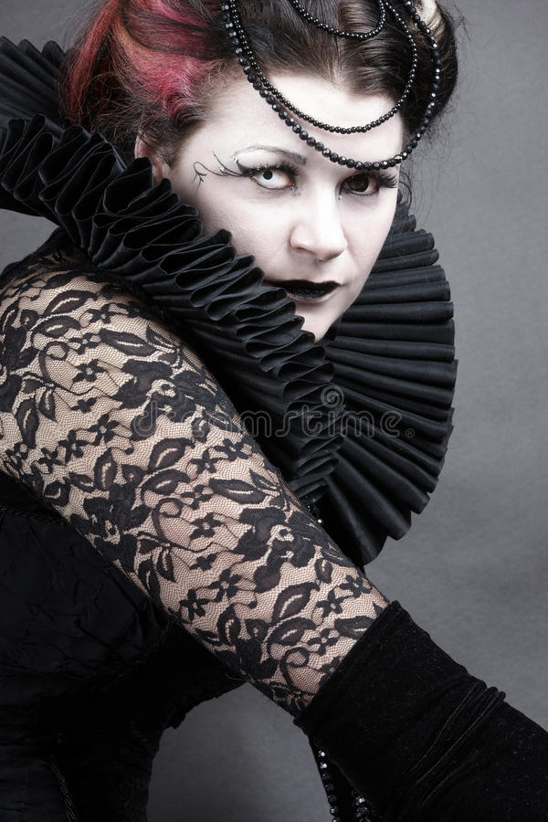 黑暗的女王/王后 库存照片
