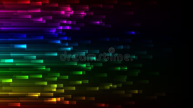 黑暗的抽象五颜六色的墙纸 霓虹传染媒介背景 向量例证