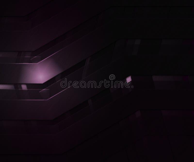 黑暗的抽象紫罗兰色Backgroud 向量例证
