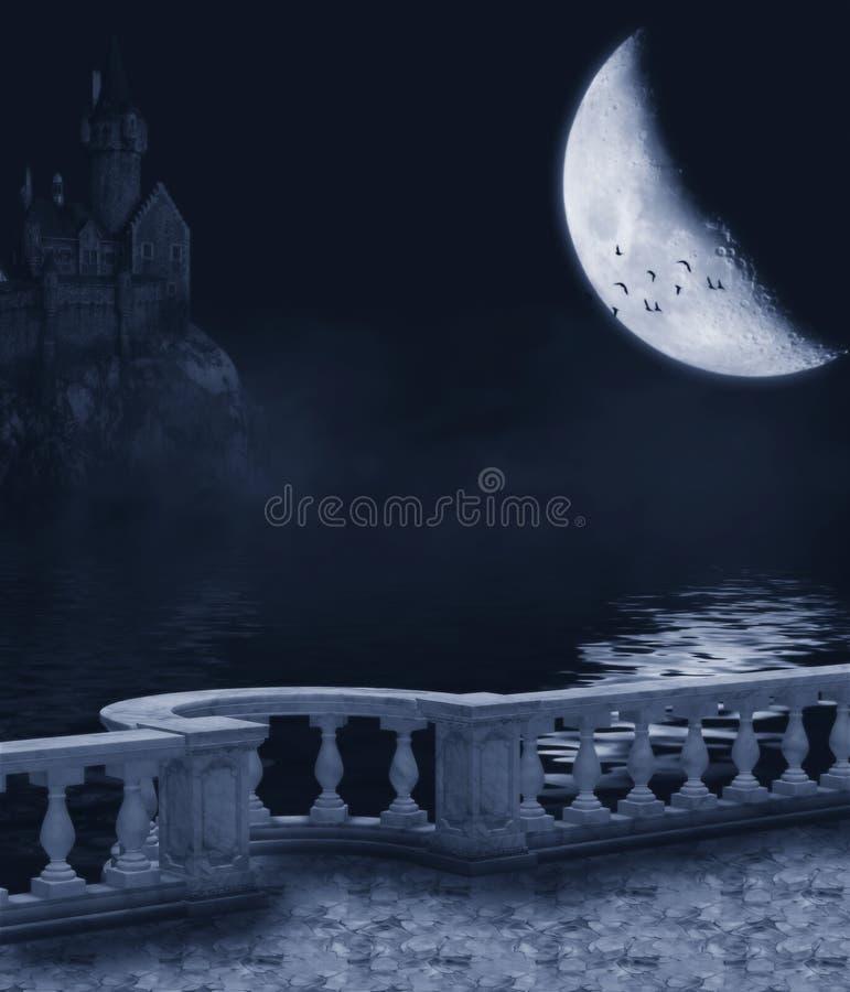 黑暗的晚上 向量例证