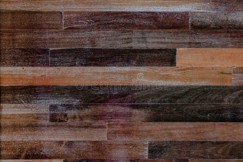 黑暗的木棕色五谷纹理背景 自然老难看的东西patt 免版税图库摄影