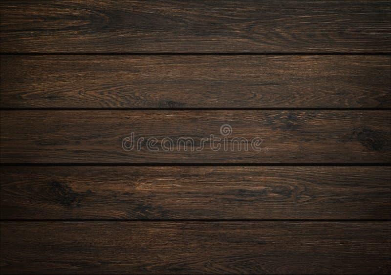 黑暗的木背景 木板纹理 自然板条结构  免版税库存照片