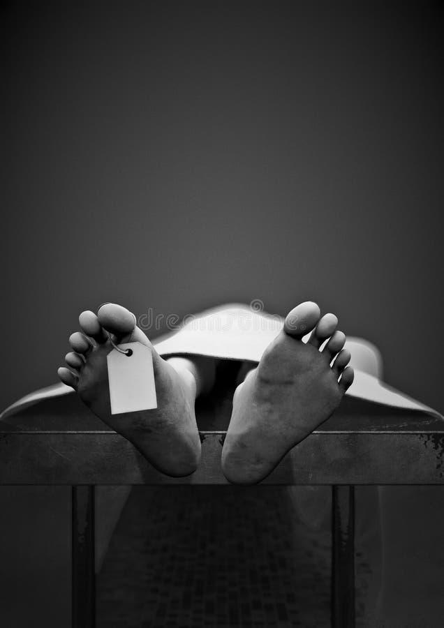 黑暗的标签脚趾 向量例证