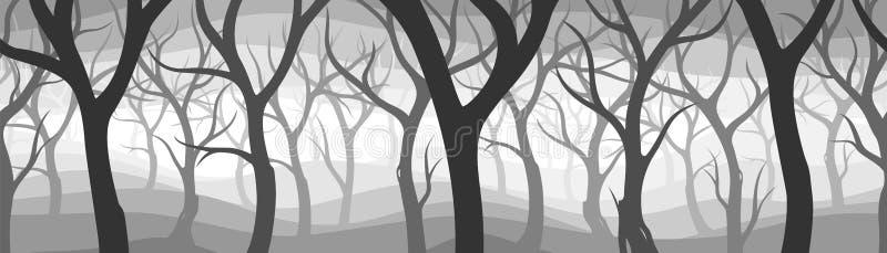 黑暗的森林 皇族释放例证