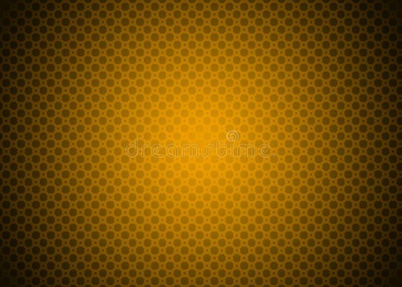 黑暗的橙黄Techno装饰样式背景墙纸 向量例证