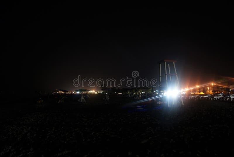 黑暗的海滩在意大利 库存照片