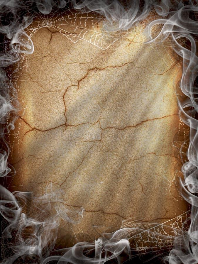 黑暗的火万圣节烟 免版税库存图片