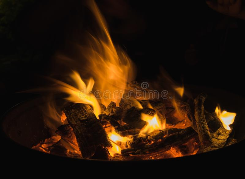 黑暗的火焰 免版税库存照片