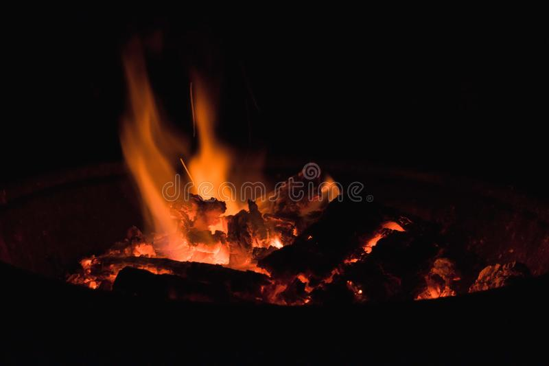 黑暗的火焰 免版税库存图片