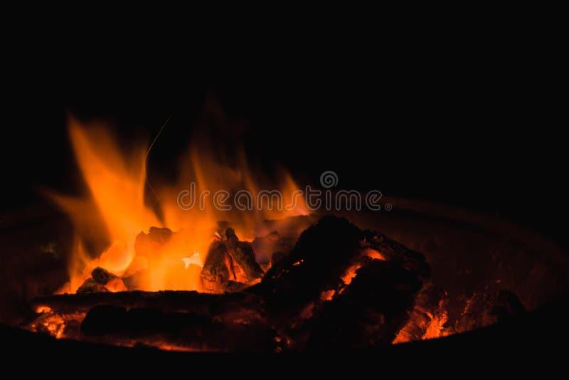 黑暗的火焰 图库摄影