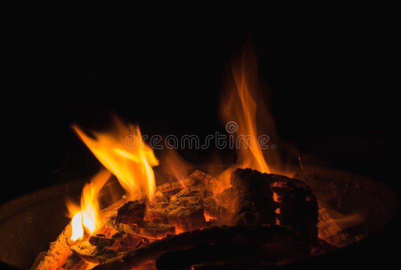 黑暗的火焰 库存照片