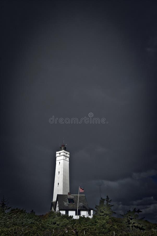黑暗的灯塔天气 库存图片