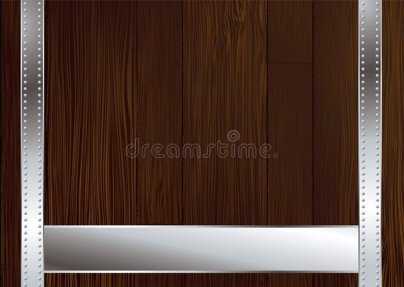 黑暗的皮带木头 库存例证
