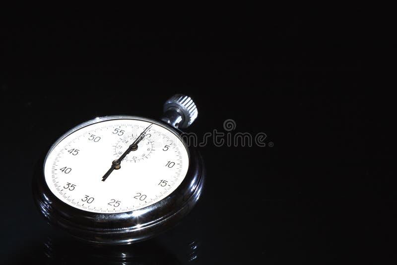 黑暗的秒表 库存图片