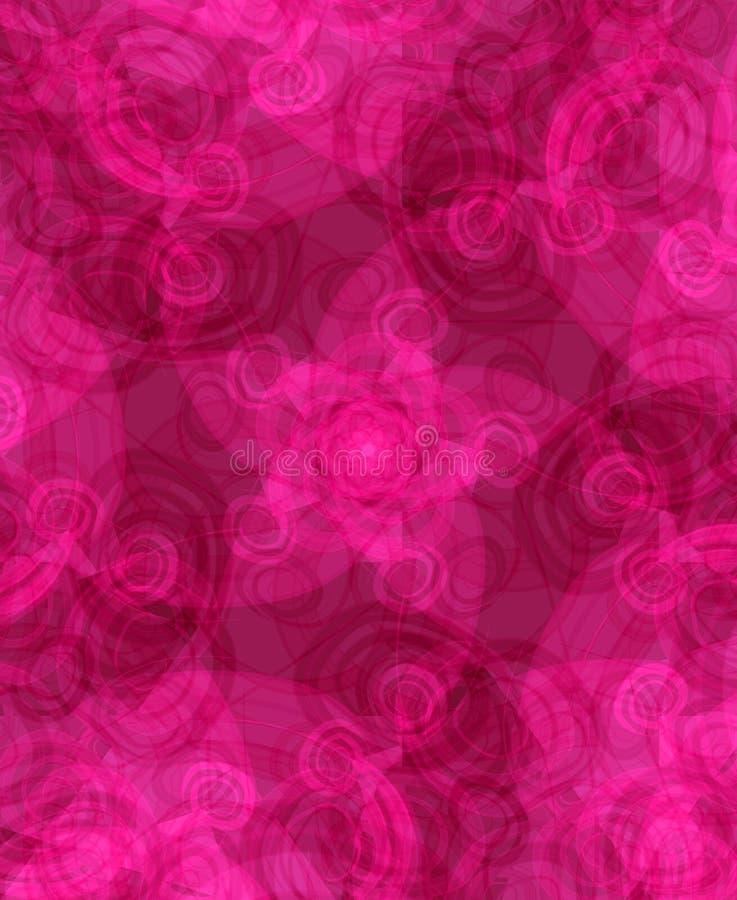 黑暗的粉红色打旋纹理 库存例证