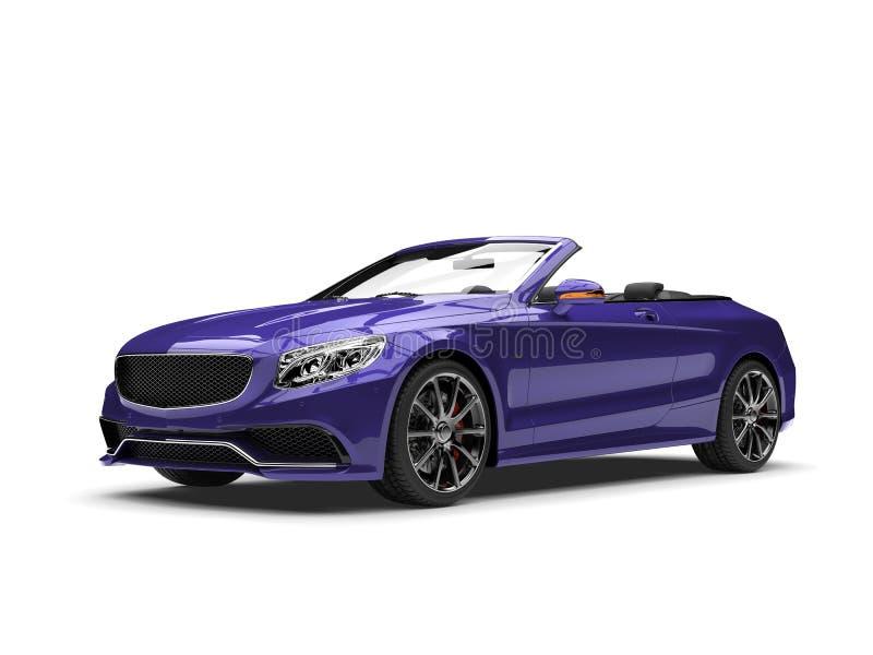 黑暗的紫罗兰色现代豪华敞篷车汽车 库存例证