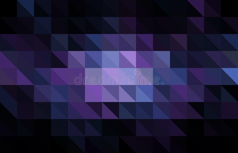 黑暗的紫色传染媒介多角形摘要模板 与梯度的五颜六色的抽象例证 皇族释放例证