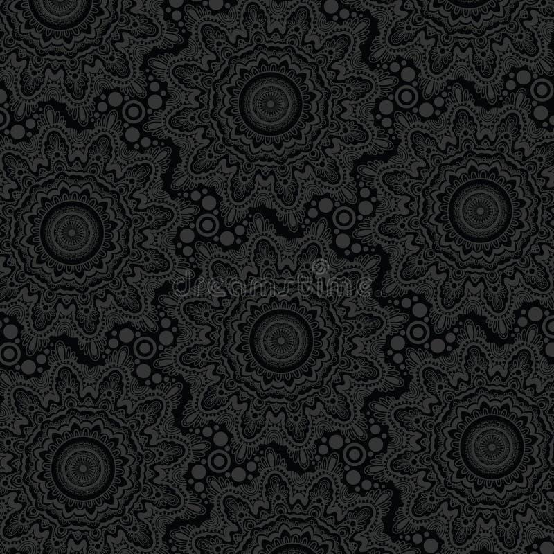 黑暗的纹理背景设计 现代时髦的无缝的样式-传染媒介 向量例证