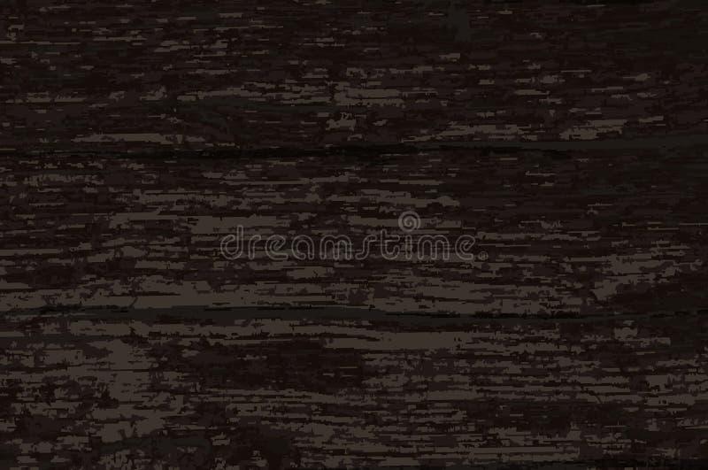 黑暗的老木材背景 皇族释放例证