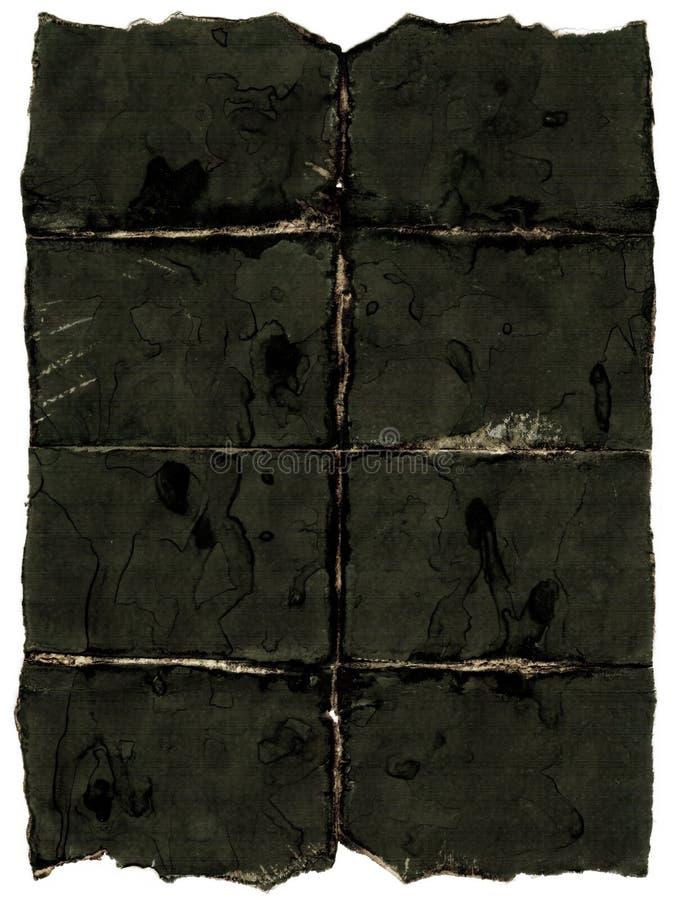 黑暗的老纸张 库存图片