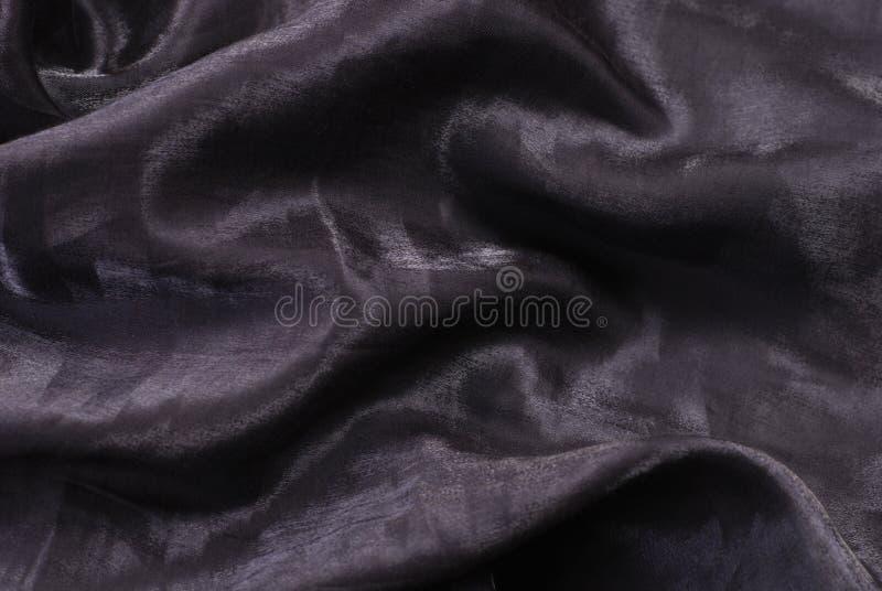 黑暗的被折叠的发光的纺织品 库存图片