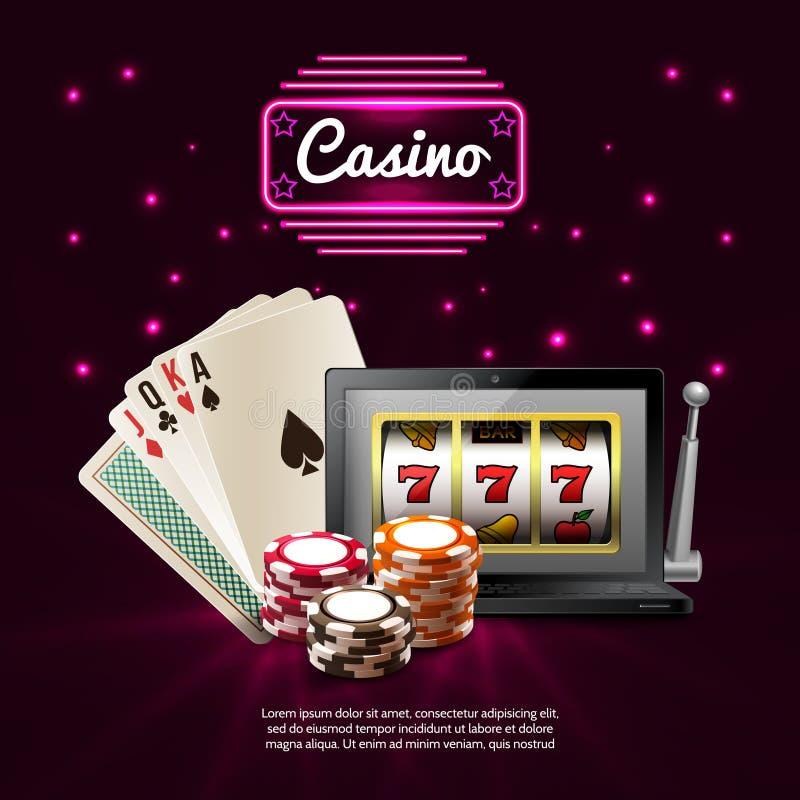黑暗的赌博娱乐场现实构成 向量例证
