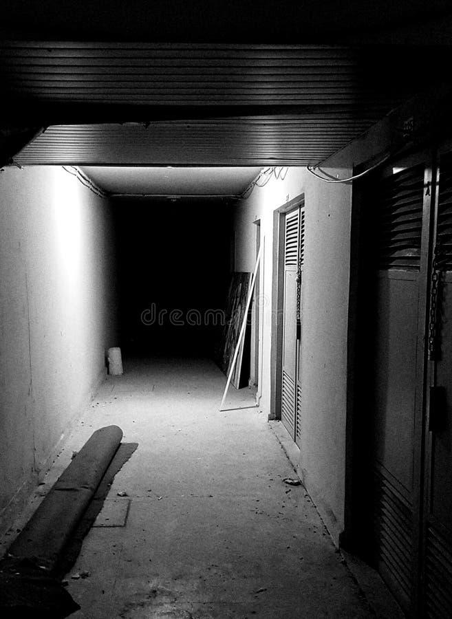 黑暗的走廊 免版税库存照片