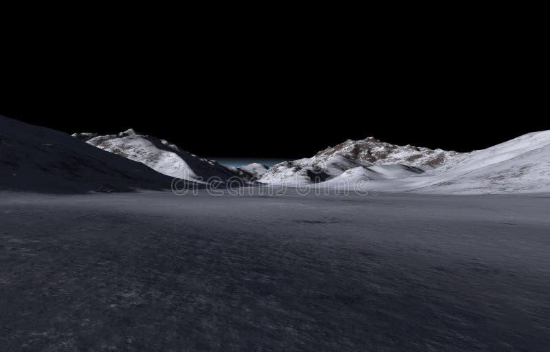 黑暗的遥远的小山 库存照片