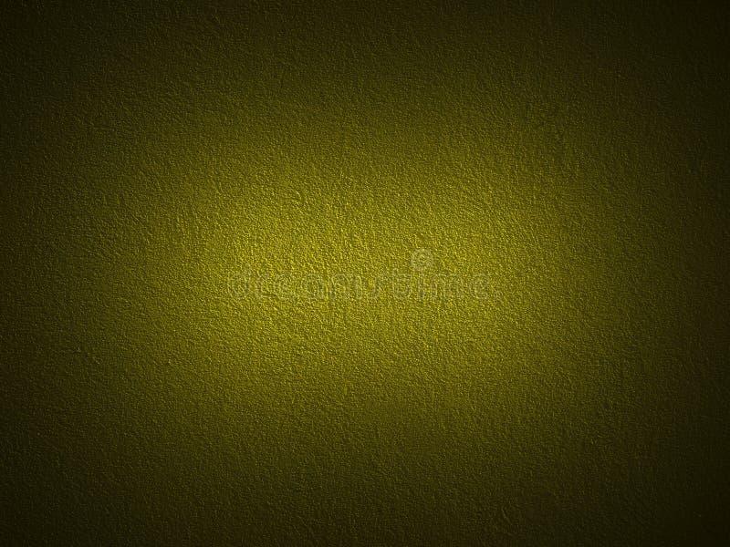 黑暗的金谷物油漆墙壁 免版税库存照片