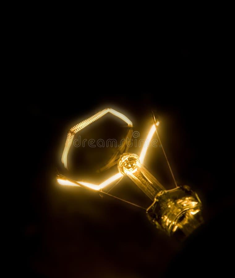 黑暗的闪亮指示照明设备螺旋 库存图片