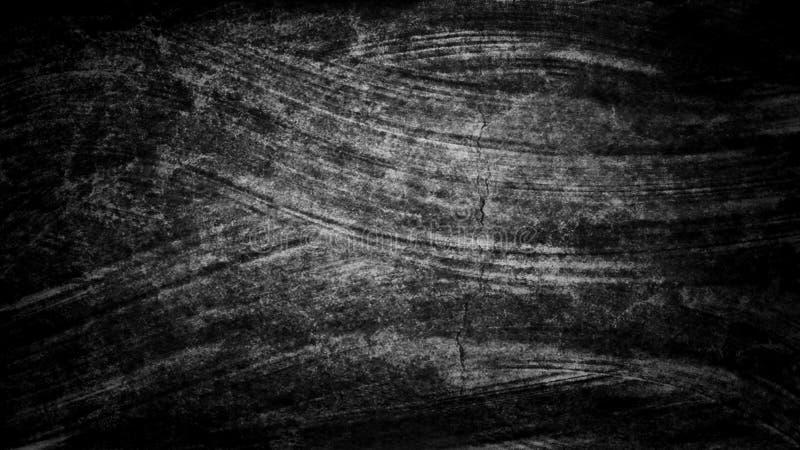 黑暗的难看的东西黑白色水彩手画刷子冲程 抽象背景线路 生动的水彩画波浪 灰泥样式 W 向量例证
