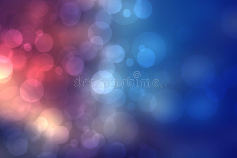 黑暗被弄脏的蓝色背景纹理 梯度与紫色轻的bokeh的摘要背景 ?? 向量例证